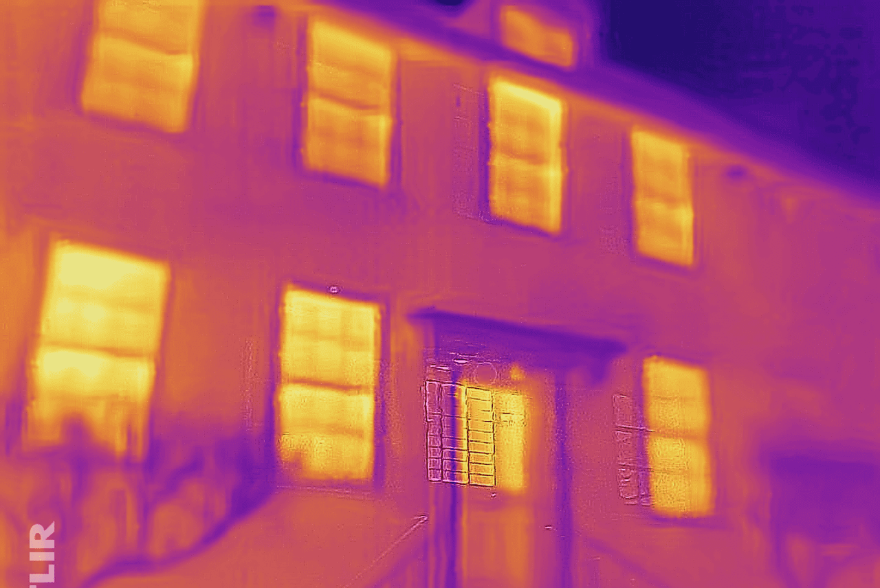 Heritage Building - Thermographic Image of Building Envelope